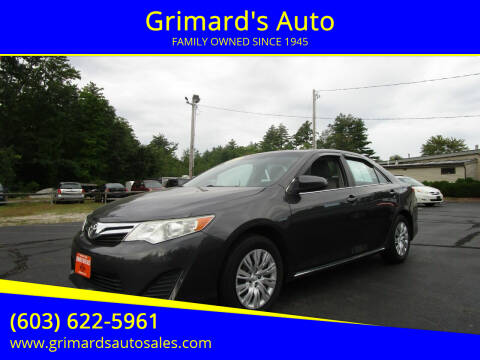 2013 Toyota Camry for sale at Grimard's Auto in Hooksett, NH