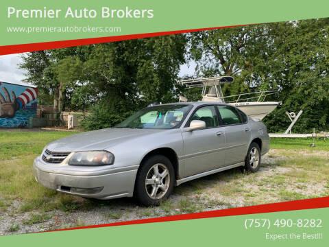 2005 Chevrolet Impala for sale at Premier Auto Brokers in Virginia Beach VA