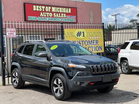 2016 Jeep Cherokee for sale at Best of Michigan Auto Sales in Detroit MI