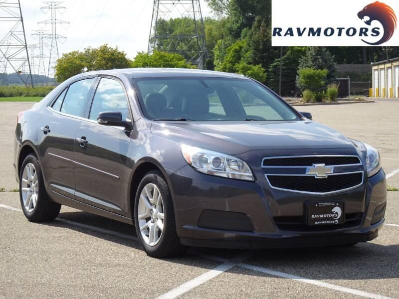 2013 Chevrolet Malibu for sale at RAVMOTORS in Burnsville MN