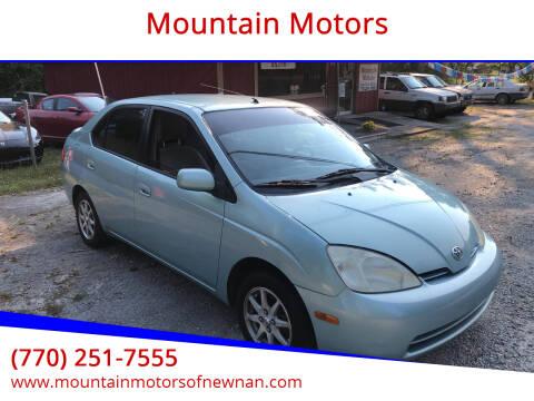 2002 Toyota Prius for sale at Mountain Motors in Newnan GA
