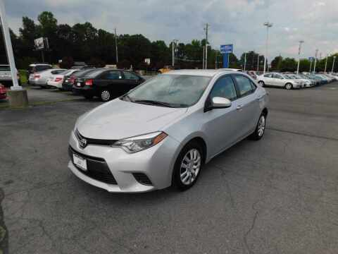 2015 Toyota Corolla for sale at Paniagua Auto Mall in Dalton GA