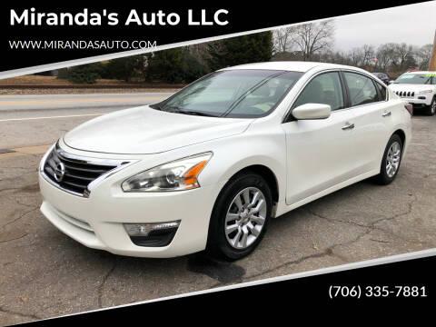 2014 Nissan Altima for sale at Miranda's Auto LLC in Commerce GA