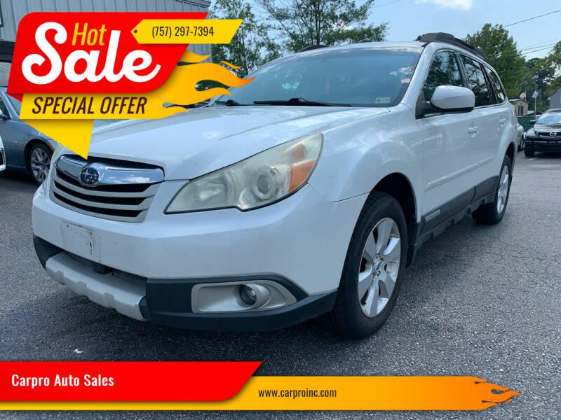 2011 Subaru Outback for sale at Carpro Auto Sales in Chesapeake VA