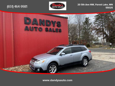 2014 Subaru Outback for sale at Dandy's Auto Sales in Forest Lake MN