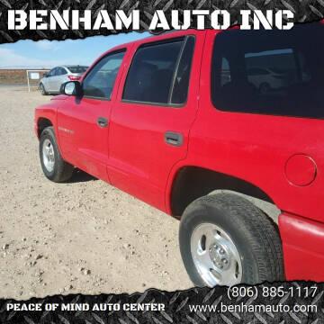 1999 Dodge Durango for sale at BENHAM AUTO INC in Lubbock TX