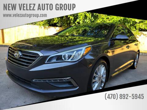 2015 Hyundai Sonata for sale at NEW VELEZ AUTO GROUP in Gainesville GA