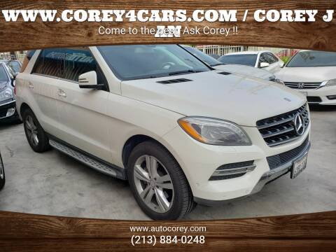 2013 Mercedes-Benz M-Class for sale at WWW.COREY4CARS.COM / COREY J AN in Los Angeles CA
