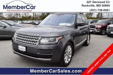 2016 Land Rover Range Rover for sale at MemberCar in Rockville MD