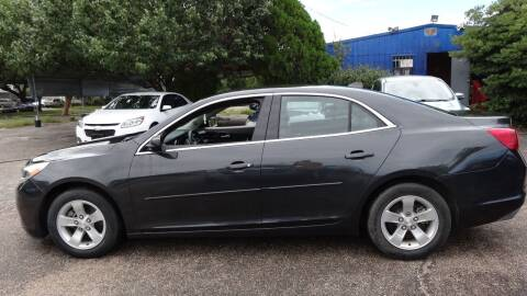 2014 Chevrolet Malibu for sale at HOUSTON'S BEST AUTO SALES in Houston TX