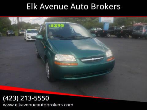 2004 Chevrolet Aveo for sale at Elk Avenue Auto Brokers in Elizabethton TN