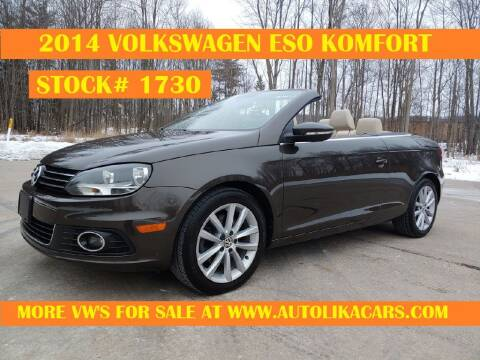 2014 Volkswagen Eos for sale at Autolika Cars LLC in North Royalton OH