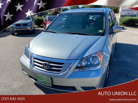 2009 Honda Odyssey for sale at Auto Union LLC in Virginia Beach VA