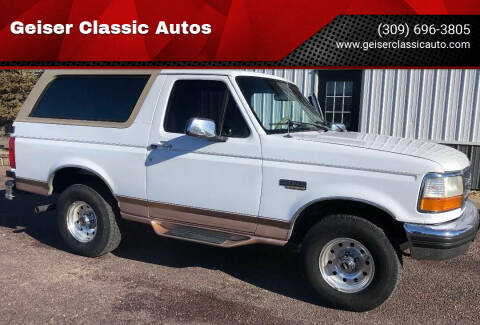 1996 Ford Bronco for sale at Geiser Classic Autos in Roanoke IL