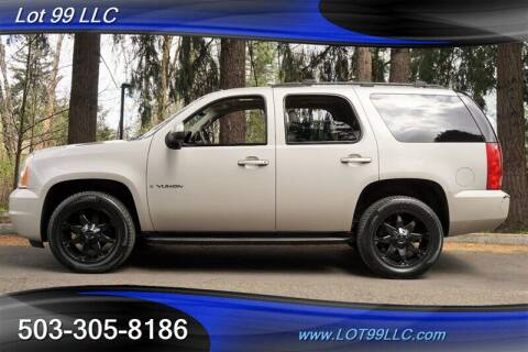 2007 GMC Yukon for sale at LOT 99 LLC in Milwaukie OR