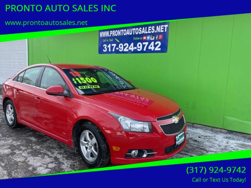 2013 Chevrolet Cruze for sale at PRONTO AUTO SALES INC in Indianapolis IN