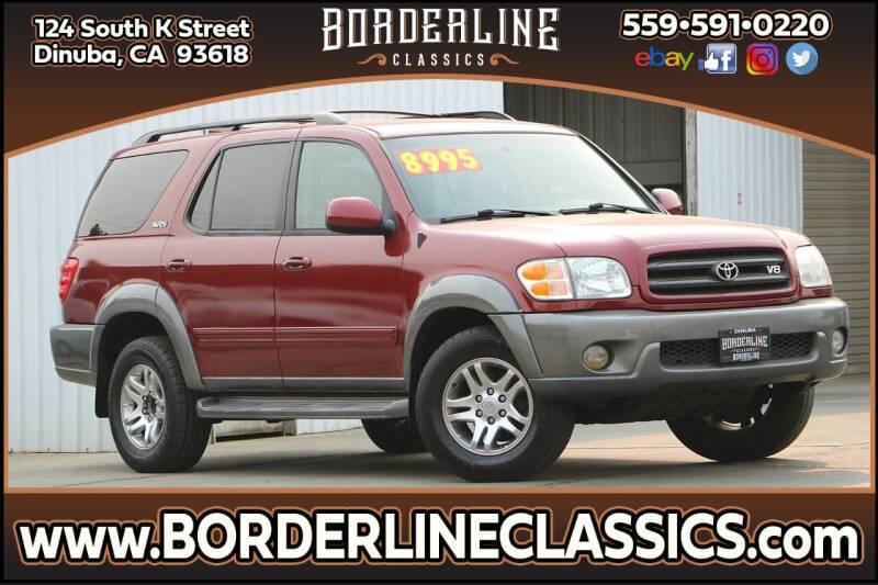 2003 Toyota Sequoia for sale at Borderline Classics in Dinuba CA