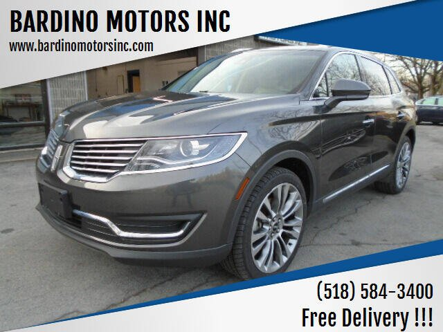 2018 Lincoln MKX for sale at BARDINO MOTORS INC in Saratoga Springs NY