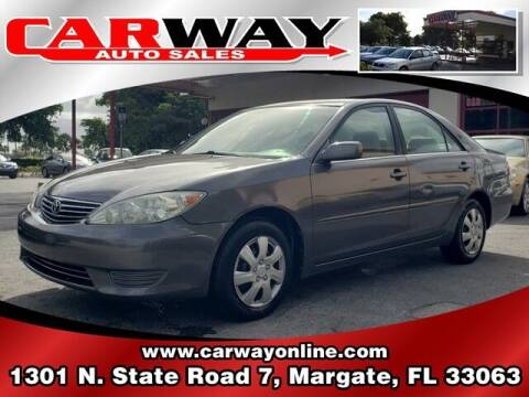 2005 Toyota Camry for sale at CARWAY Auto Sales in Margate FL