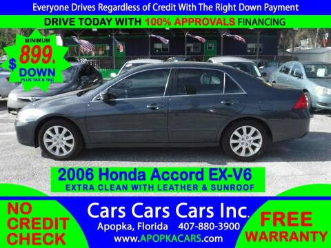 2006 Honda Accord for sale at CARS CARS CARS INC in Apopka FL