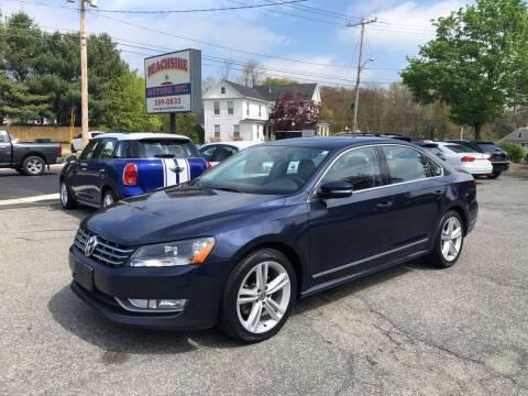 2013 Volkswagen Passat for sale at Beachside Motors, Inc. in Ludlow MA