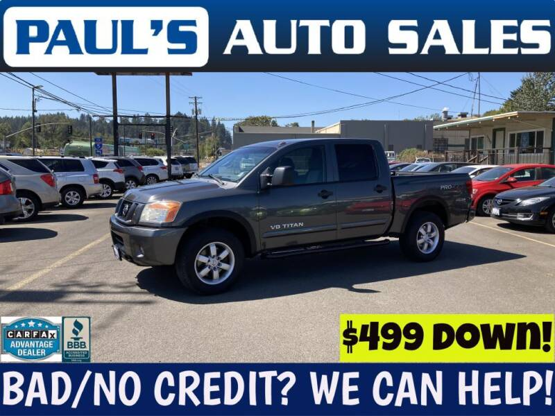 2008 Nissan Titan for sale at Paul's Auto Sales in Eugene OR