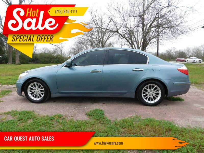 2011 Hyundai Genesis for sale at CAR QUEST AUTO SALES in Houston TX
