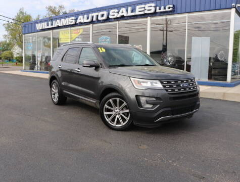 2016 Ford Explorer for sale at Williams Auto Sales, LLC in Cookeville TN