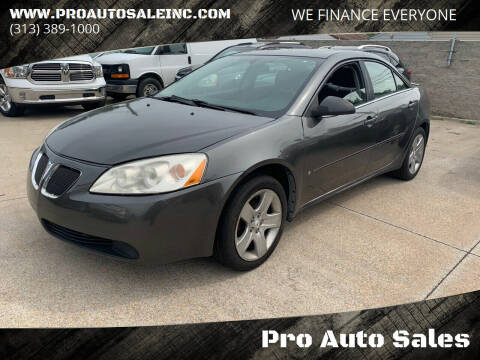 2007 Pontiac G6 for sale at Pro Auto Sales in Lincoln Park MI