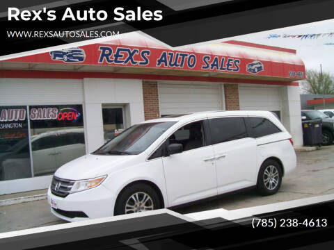 2013 Honda Odyssey for sale at Rex's Auto Sales in Junction City KS