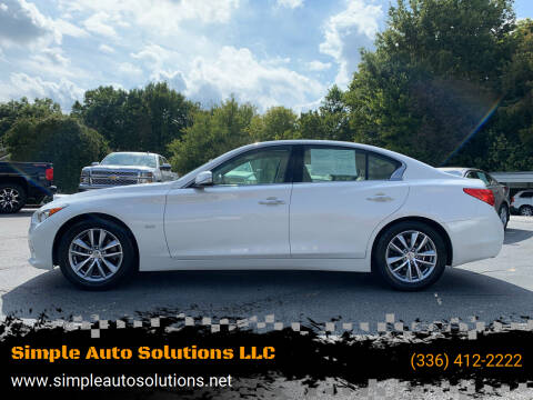 2017 Infiniti Q50 for sale at Simple Auto Solutions LLC in Greensboro NC