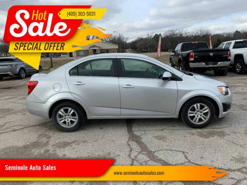 2012 Chevrolet Sonic for sale at Seminole Auto Sales in Seminole OK