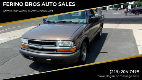 1999 Chevrolet S-10 for sale at FERINO BROS AUTO SALES in Wrightstown PA