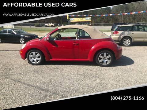 2006 Volkswagen New Beetle Convertible for sale at AFFORDABLE USED CARS in Richmond VA