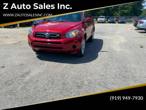 2007 Toyota RAV4 for sale at Z Auto Sales Inc. in Rocky Mount NC