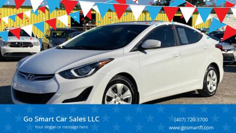 2016 Hyundai Elantra for sale at Go Smart Car Sales LLC in Winter Garden FL