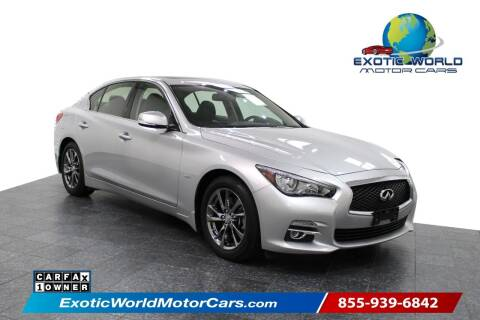 2017 Infiniti Q50 for sale at Exotic World Motor Cars in Addison TX