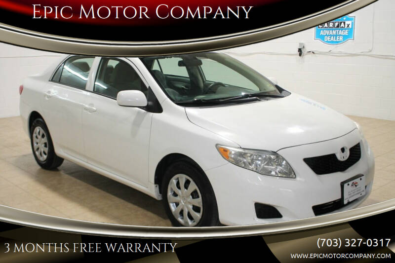 2010 Toyota Corolla for sale at Epic Motor Company in Chantilly VA
