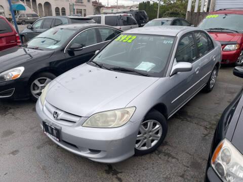 2004 Honda Civic for sale at American Dream Motors in Everett WA