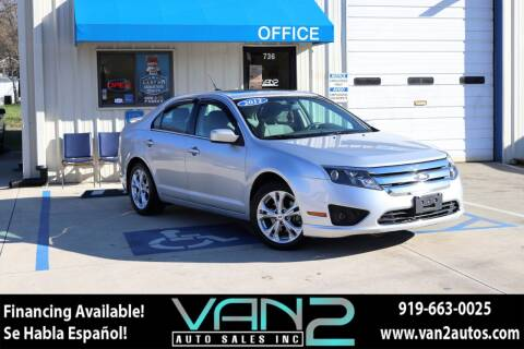 2012 Ford Fusion for sale at Van 2 Auto Sales Inc in Siler City NC
