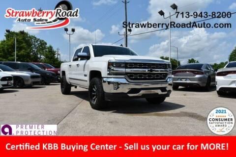 2018 Chevrolet Silverado 1500 for sale at Strawberry Road Auto Sales in Pasadena TX