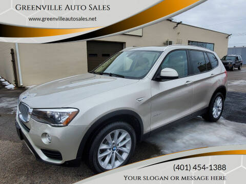 2017 BMW X3 for sale at Greenville Auto Sales in Warwick RI