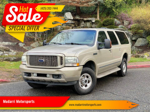 2004 Ford Excursion for sale at Mudarri Motorsports in Kirkland WA