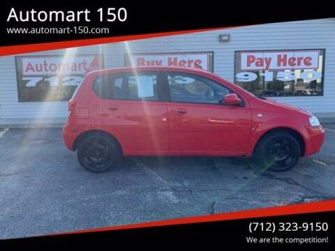 2008 Chevrolet Aveo for sale at Automart 150 in Council Bluffs IA