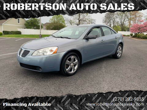 2008 Pontiac G6 for sale at ROBERTSON AUTO SALES in Bowling Green KY