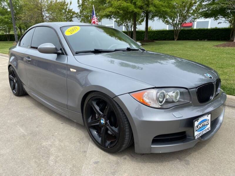2009 BMW 1 Series for sale at UNITED AUTO WHOLESALERS LLC in Portsmouth VA