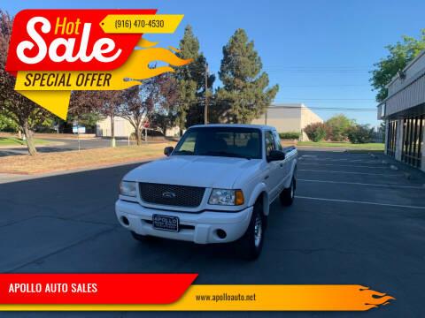 2002 Ford Ranger for sale at APOLLO AUTO SALES in Sacramento CA