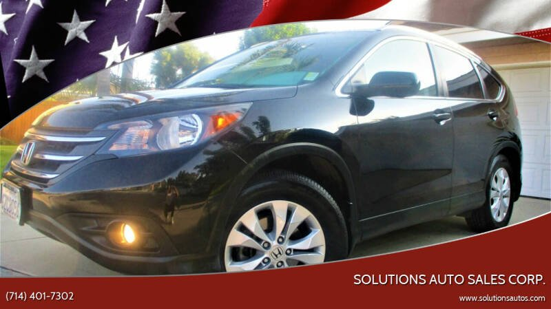 2013 Honda CR-V for sale at Solutions Auto Sales Corp. in Orange CA