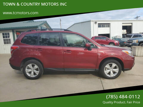 2016 Subaru Forester for sale at TOWN & COUNTRY MOTORS INC in Meriden KS