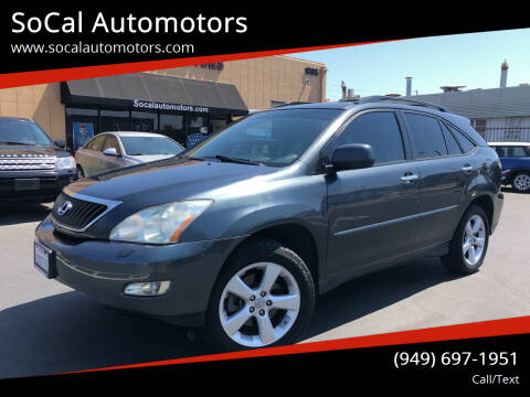 2008 Lexus RX 350 for sale at SoCal Automotors in Costa Mesa CA